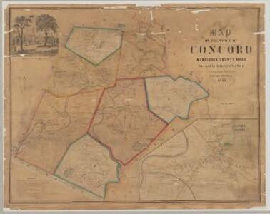 Map of the town of Concord, Middlesex County, Mass. : surveyed by authority of the town