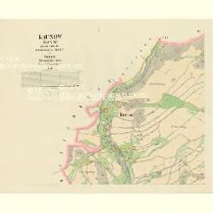 Kaunow - c3425-1-001 - Kaiserpflichtexemplar der Landkarten des stabilen Katasters