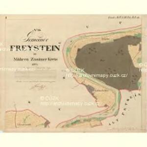 Freystein - m2316-2-001 - Kaiserpflichtexemplar der Landkarten des stabilen Katasters
