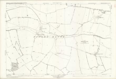 Buckinghamshire V.8 (includes: Chicheley; Clifton Reynes; Emberton; Hardmead; Petsoe Manor) - 25 Inch Map