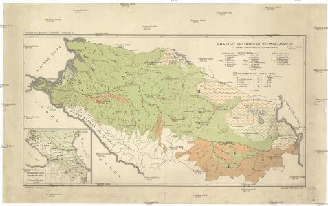 Mapa ruské národnosti na severním Kavkazsku