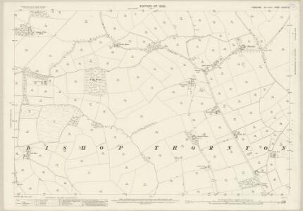 Yorkshire CXXXVI.8 (includes: Bishop Thornton; Markington With Wallerthwaite; Sawley) - 25 Inch Map