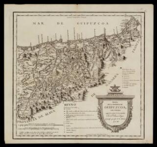 Mapa de la provincia de Guipuzcoa / construido segun las noticias de sus naturales por Dn. Tomás Lopez