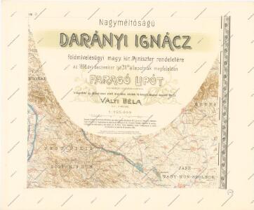 A Dunavölgy Átnézeti Térképe, Carte d ́ensemble del la Vallée du Danube VIII.