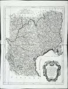 Carte des gouvernements de Languedoc, de Foix, et de Roussillon