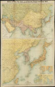 Maps of the Far East, illustrating Russo-Japanese War