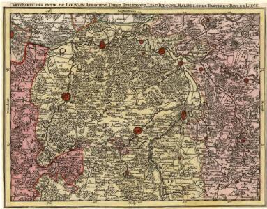 Carte Partic. des Envir. de Louvain Aerschot, Diest, Tirlemont, Leau, Iudogne, Malines, et de Partie du Pays de Liege