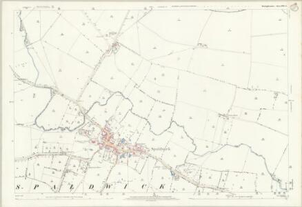 Huntingdonshire XVII.9 (includes: Barham and Woolley; Easton; Ellington; Spaldwick) - 25 Inch Map
