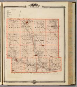Map of Dallas County, State of Iowa.