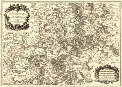 La Basse Partie du Cercle du Haut Rhein divisé en tous ses Estats et Souverainetes
