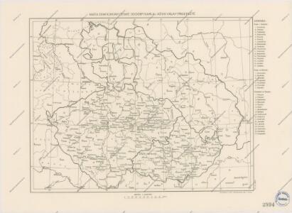 Mapa zemí Koruny České od doby Karla IV. až do války třicetileté