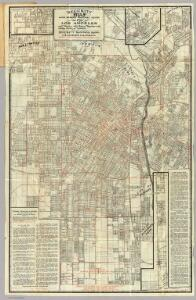 Security Map And Street Railway Guide of the City of Los Angeles.