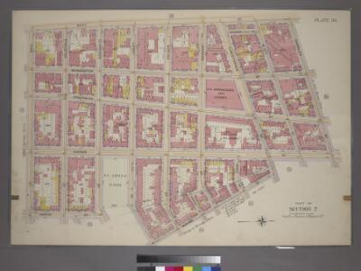 Plate 34, Part of Section 2: [Bounded by West Street, Charles Street, Hudson Street, Christopher Street, Bedford Street, Leroy Street, Varick Street and King Street.]