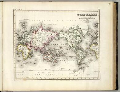 Welt-Karte, Mercators Proj.