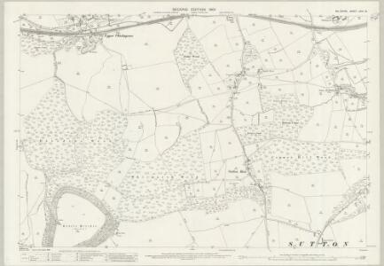 Wiltshire LXIV.16 (includes: Sutton Mandeville; Swallowcliffe; Tisbury) - 25 Inch Map