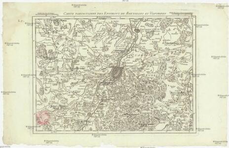 Carte particuliere des environs de Bruxelles et Vilvorden